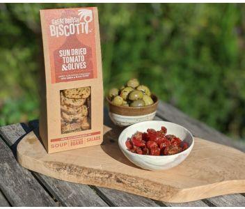 Sun Dried Tomato & Olive Biscotti