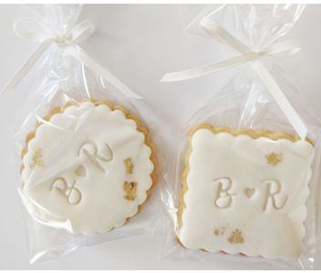 Butter Biscuit with fondant icing - Wedding/Birthday favour