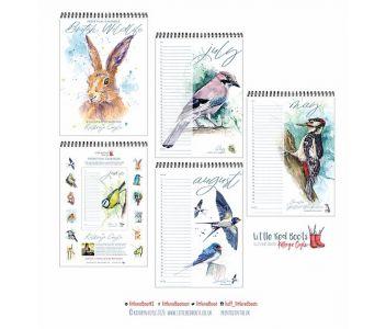 Illustrated Perpetual Wildlife Calendar