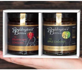 Gift Pack - 2 x 227g Strawberry Conserve & Apple Chutney