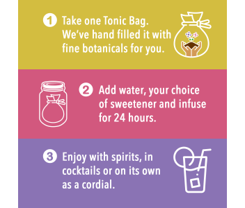 Distiller's Delight Tonic Caddy | Make-Your-Own Citrus Tonic Water | 28 servings - Ready to enjoy in 24 Hours