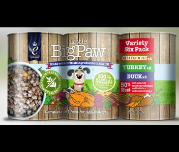 Little BigPaw Variety Tins 6x390g x4 (24 Assorted Flavours)