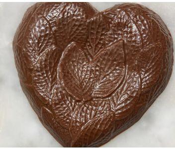 Vegan M*lk Chocolate Leafy Detailed Heart