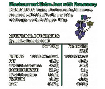 Womersley Blackcurrant & Rosemary Jam