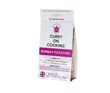 Curry On Cooking Bombay Potatoes Kit (mild/medium) 1 Potato, 2 Potato, 3 Potato, 4!