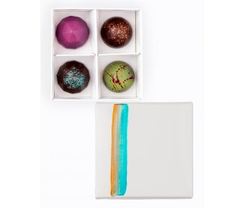 Vegan Box of 4 Chocolate Bonbons