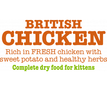British Chicken Complete Dry Food for Kittens 1.5kg x4