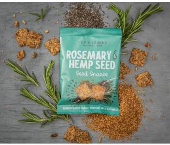 Pep & Lekker Rosemary & Hemp seed snacks (box of 5)