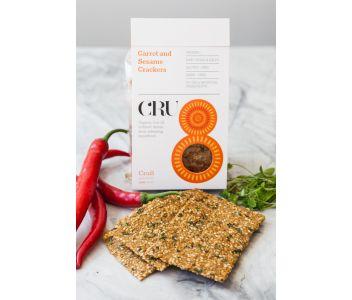 Raw Carrot & Sesame Crackers