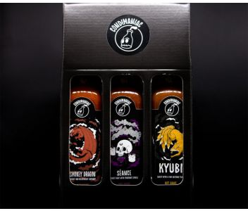 Condimaniac Hot Sauce Gift Set (3 x 220ml) - varying heat