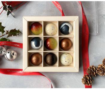 Couture Christmas Chocolate Box (Box of 9 chocolates)