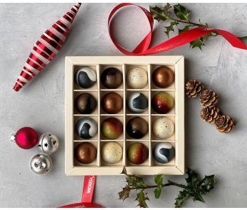 Couture Christmas Chocolate Box (Box of 16 chocolates)