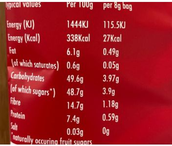 LioBites Freeze-Dried Strawberry Crisps - 1 box 15 packs - FREE DELIVERY