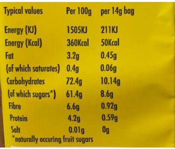 LioBites Freeze-Dried Banana Crisps - 1 box 15 packs - FREE DELIVERY