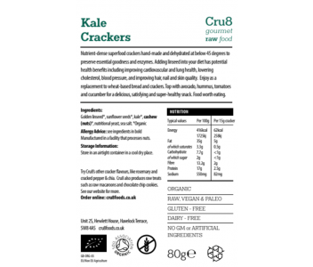 Raw Chee*y Kale Crackers