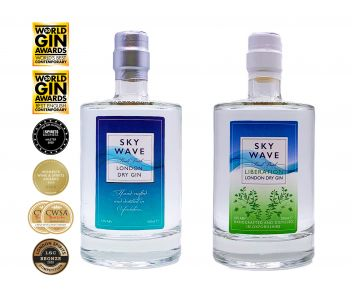 Sky Wave London Dry Gin and Sky Wave Liberation London Dry Gin Twin Pack