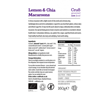 Raw Lemon & Chia Seed Macaroons