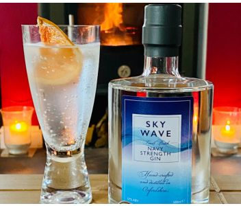 Sky Wave London Dry Gin Navy Strength (57% ABV) [500ml]