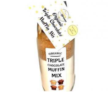 Organic Triple Chocolate Muffin Mix Bottle