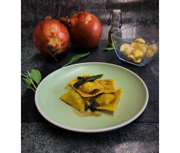 Free-range pork sausage, sage and onion ravioli (6 servings)