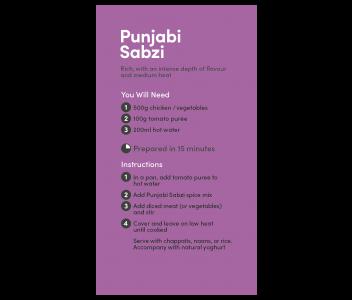 Punjabi Sabzi Curry Spice Kit