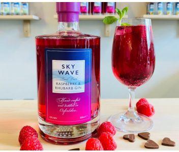 Sky Wave Raspberry and Rhubarb Gin (42% ABV) [500ml]
