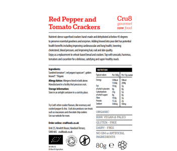 Raw Tomato and Red Pepper Crackers