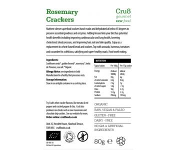 Raw Rosemary Crackers