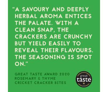 Cricket Cracker Bites - Rosemary & Thyme