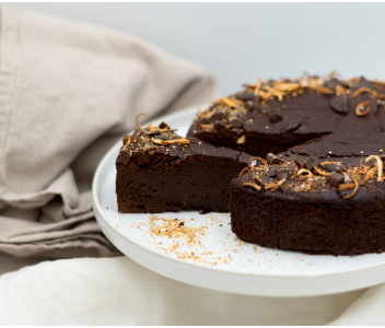 Chocolate Orange Brownie Cake | Gluten Free, Dairy Free, Vegan & Refined Sugar Free
