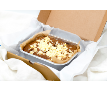 Salted Peanut Butter & White Chocolate Blondies | Vegan & Gluten Free