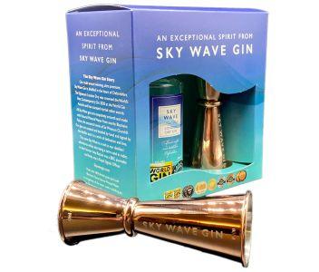 Sky Wave Gin Gift Box & Jigger (1 x 200ml bottle plus Rose Jigger)