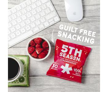 5th Season Freeze-Dried Scrumptious Strawberries 18 x 8g
