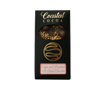 Coffee and Hazelnut 55% Dark Chocolate Bar