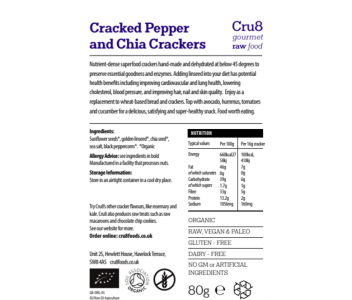 Raw Cracked Pepper and Chia Seed Crackers