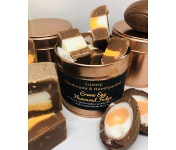 Handmade Creme Egg Fudge Gift Tin
