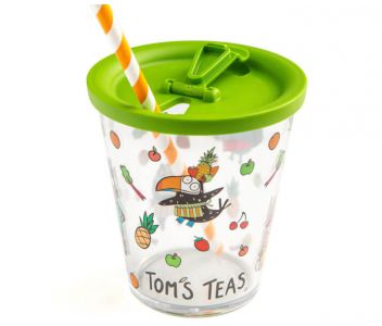 Gift set - x4 Tom's Teas and reusable cup and lid