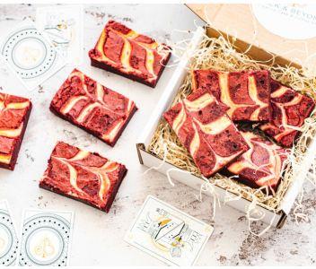 Red Velvet Brownies Box of 8