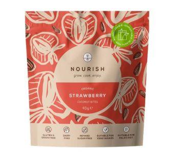 Organic Coconut Strawberry Bites - case of 10 x 40g pouches