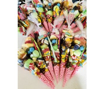 Vegan Handmade Sweet Cones. Box Of 6 Sweet Cones.