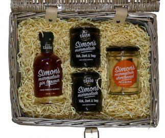 Simon's Hamper No. 2 - marmalade, marmalade gin liqueur & marmalade shortbread