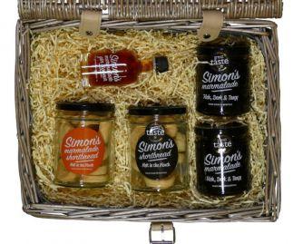 Simon's Hamper No. 3 - marmalade, marmalade gin liqueur, shortbread & marmalade shortbread