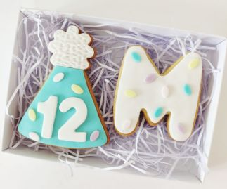 Butter Biscuit with fondant icing - Birthday