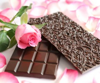 Rose & Dark Chocolate Bar