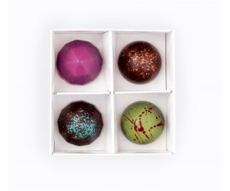Vegan Box of 4 Chocolate Bonbons