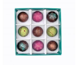 Vegan Box of 9 Chocolate Bonbons