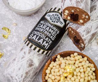 Millionaire's Caramel Shortbread Salami