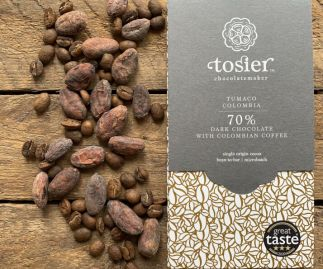 70% Tumaco Colombia chocolate bar with Colombian coffee