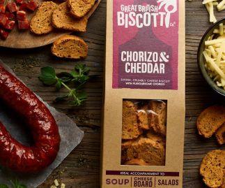 Chorizo & Cheddar Biscotti