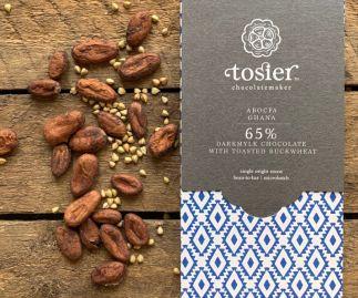 DarkMylk Kasha Bar - 65% ABOCFA Ghana + toasted buckwheat